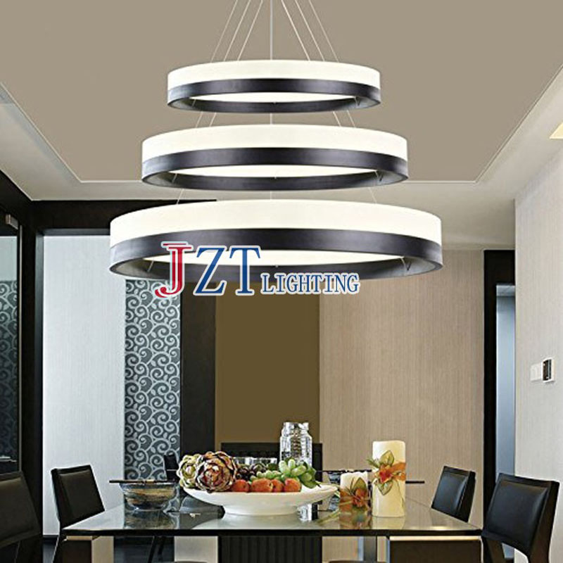 Z DIY Style Modern One / Two / Three Rings Ceiling Lamp LED Lighting Acrylic Circular Chandelier Lights For Sittingroom Bedroom 8 lights vintage edison lamp shade multiple adjustable diy ceiling spider lamp pendent lighting chandelier modern chic easy fit
