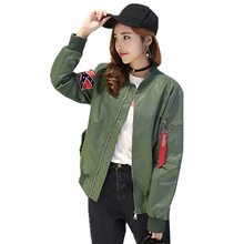 Women Jacket Coats Pilots Outerwear Woman Bomber Jackets 2017 Female Short Coat Flight Suit Jacket Solid Chaquetas Aquet C194