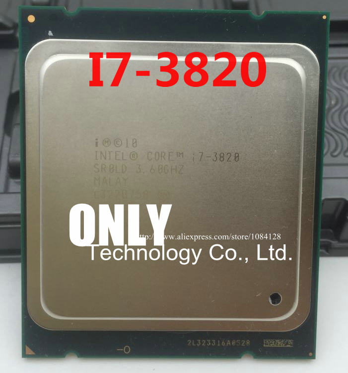 Intel Core i7 3820 3.60GHz Quad Core 10Mb SR0LD LGA2011 CPU Sandy Bridge
