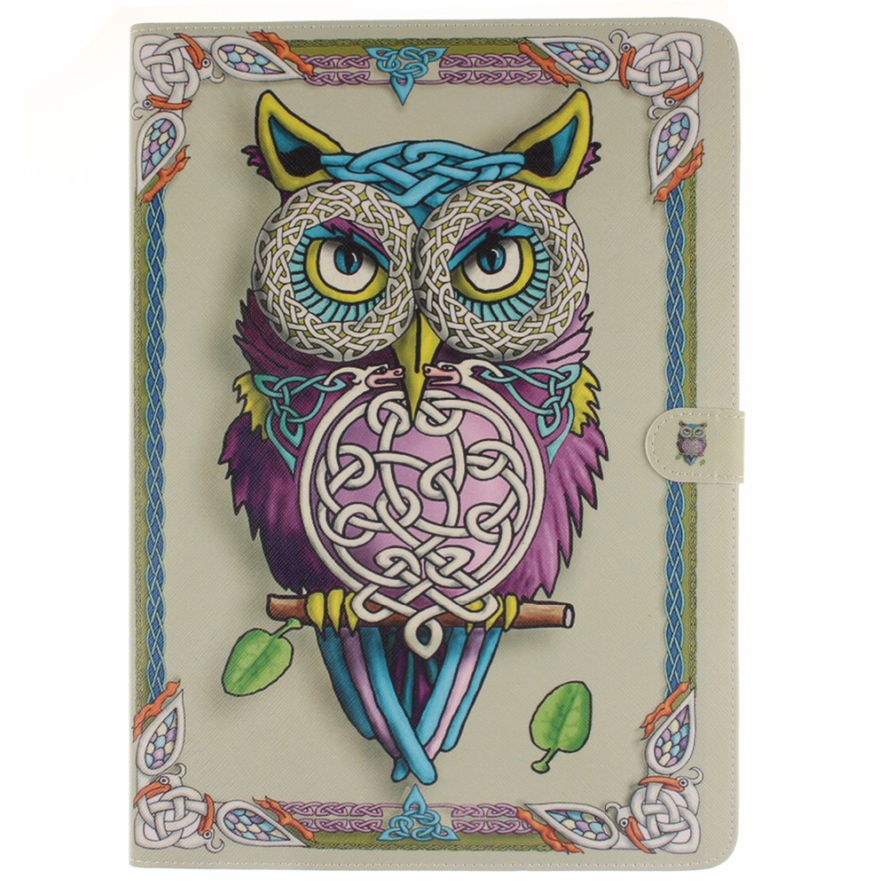 Tablet Protective Shell Cover Case For Apple Ipad Pro 12.9 2015 A1584 A1652 Owl Flower Pu Leather Soft Tpu Flip Smart Stand Case