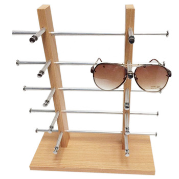 2 ряда 4 слоя деревянный дисплей рамка держатель для