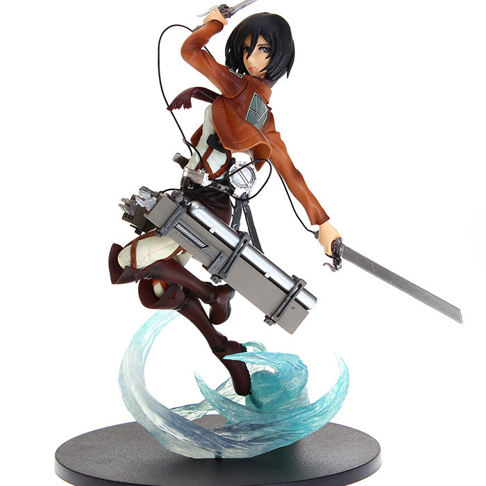 NEW Hot 1pcs 23cm Attack on Titan Mikasa Ackerman PVC Action Figure toys Christmas gift toy