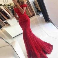 Лидер продаж Длинные красные платья выпускного вечера сексуальная Русалка Вечер Dreess вечерние платье для Для женщин vestido de festa