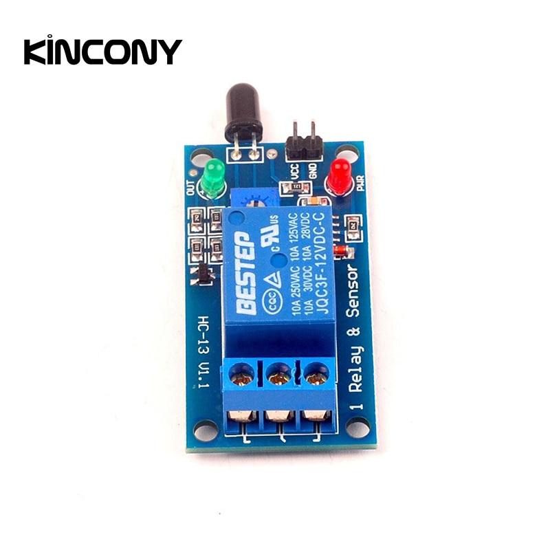 Univesal 12V Flame Sensor Module Detector Fire Sensor Detection Alarm for Kincony KC868 H4 H8 H32 Smart Home Automation System|Heat Detector| |  - title=
