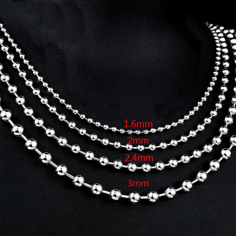Cadenas de cuentas de bola de Metal de Color negro Hip Hop a granel para pulsera de bricolaje collar de joyería hallazgos de fabricación 7C0527