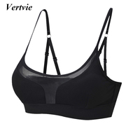 Vertvie Straps Sports Bras Women Mesh Push Up Bra Wire Free Breathable Quick Dry Push Up