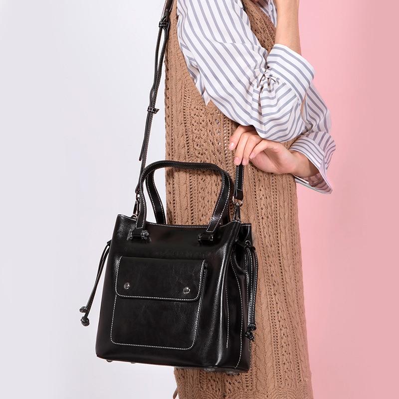 2018 Capacité purple Main Unique Sacs Sac De Pour Bandoulière Épaule Grande Femmes Dame Mode À brown Cuir En Black qn7TCZwxf