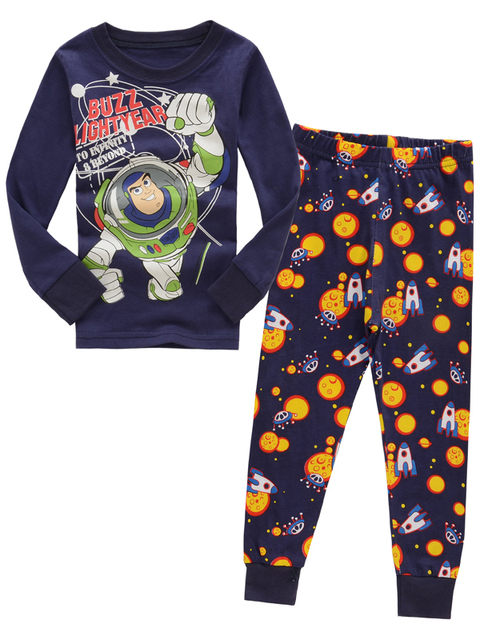 76a2bfde16 New Design Children Toy Story Pyjamas Baby long sleeves sleepwear Kids  Cartoon pajamas Girl s Boys homewear