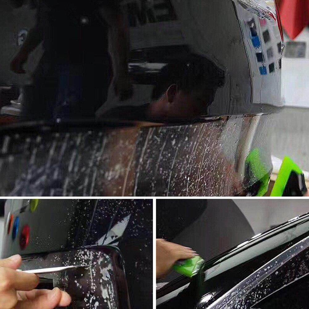 Film protecteur de voiture/meubles/marbre de SUNICE PPF Film protecteur de peinture de voiture Film d'emballage auto-adhésif 50cm x 600cm Film de TPH - 3