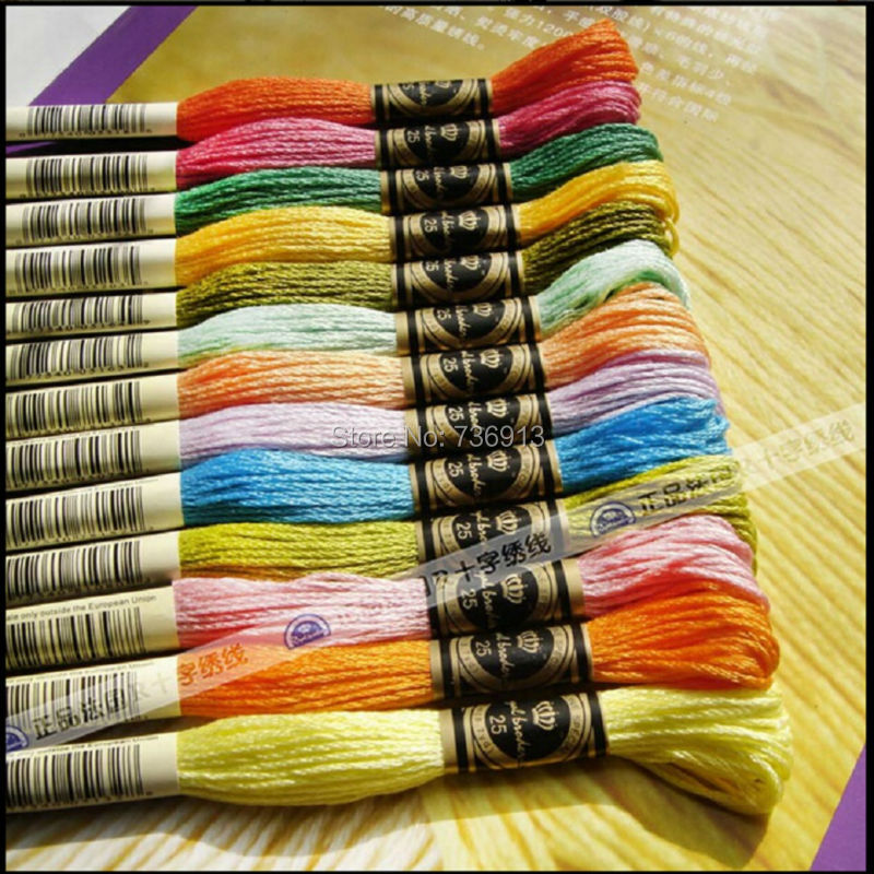Total 600 pieces Royal Embroidery Cross stitch Floss Yarn Thread Choose any colors and quantity