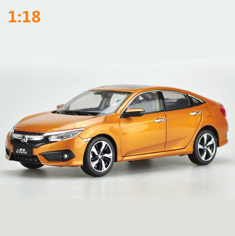 High simulation HONDA CIVIC 2016 car model 1:18 advanced alloy collection toy vehicle,diecast metal model,free shipping цена