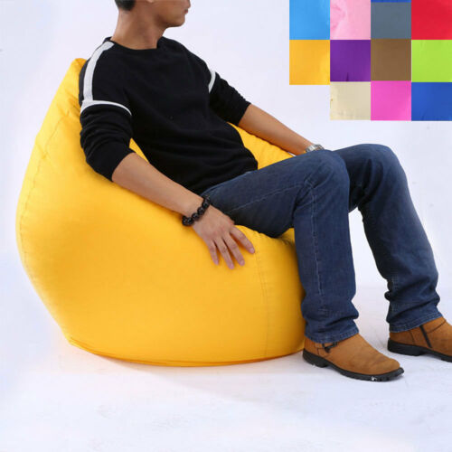 Купить с кэшбэком Outdoor Indoor Bean Bag Tall Beanbag Seat Garden Chair Patio Furniture Lounger Send In Random Color