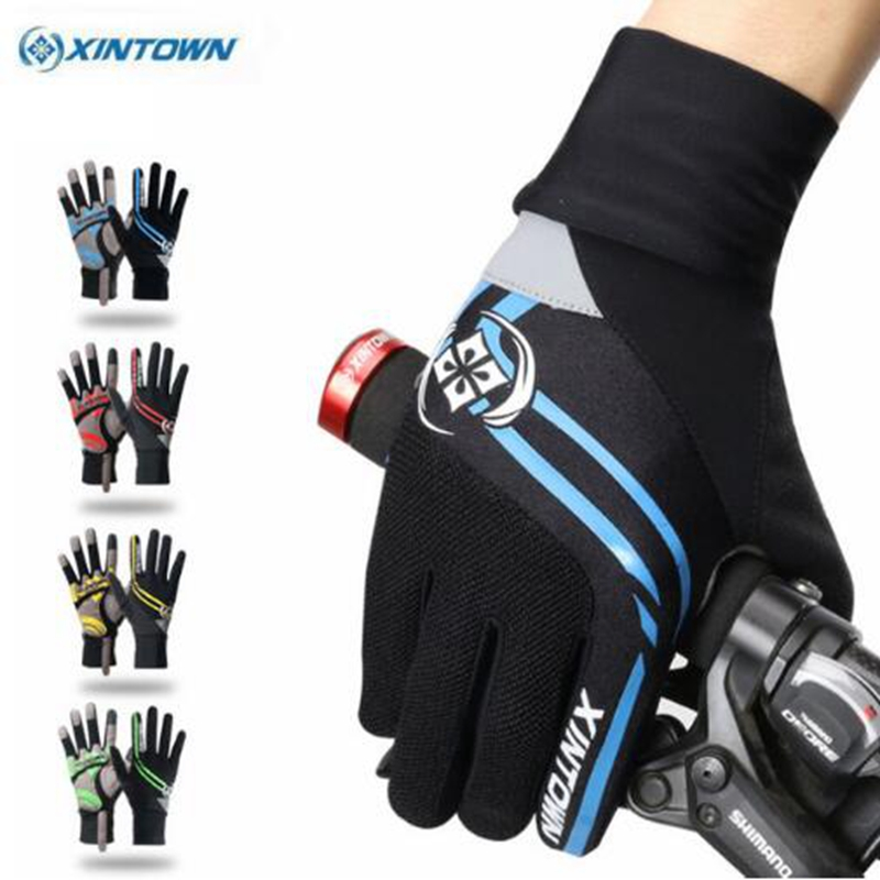 XINTOWN Riding Ciclismo Winter Cycling Gloves Bicycle Windproof Sports Wear Touch Screen Full Finger Long Gloves Bike Gloves