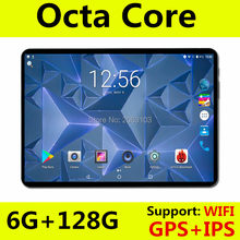 2019 Mais Novo 10 polegada 4G LTE FDD tablet Octa Core 1280X800 IPS HD 8.0MP 6GB de RAM 128GB ROM Android 8.0 GPS tablets 10.1 Presentes(China)