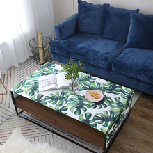 цена на Nodic Modern Leaf Green Plant Print Tablecloth Simple Waterproof Table Cloth Dining Tea Table Cloth Home Textile Wedding Party