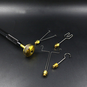 Image 5 - Royal Sissi fly tying Dubbing Spinner with 4 head attachments Brass ball bearing loop Dubbing twister delux fly tying tools