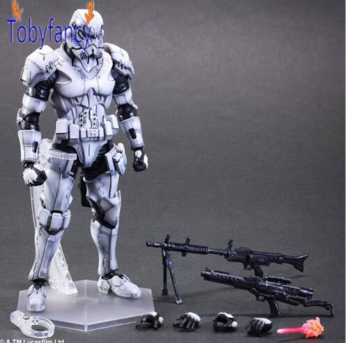 Tobyfancy Star Wars Action Figure Play Arts Kai Imperial Stormtrooper Anime Star Wars Collection Model Toy лучшие произведения в одном томе