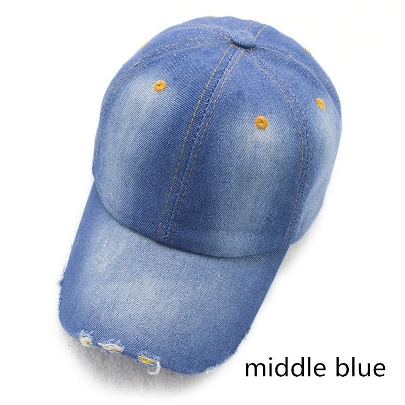 LGF161 factory wholesale unisex plain adjustable WASHED COTTON DENIM  baseball cap snapback hip hop hat-in Baseball Caps from Apparel Accessories  on ... da625ff5ebd4
