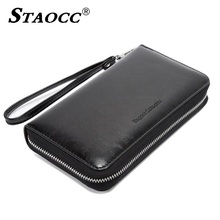 Rfid Women Wallet Clutch Purse Split Leather Long Zipper Large Capacity Card Holder High Quality Female Phone Wallet Money Bag