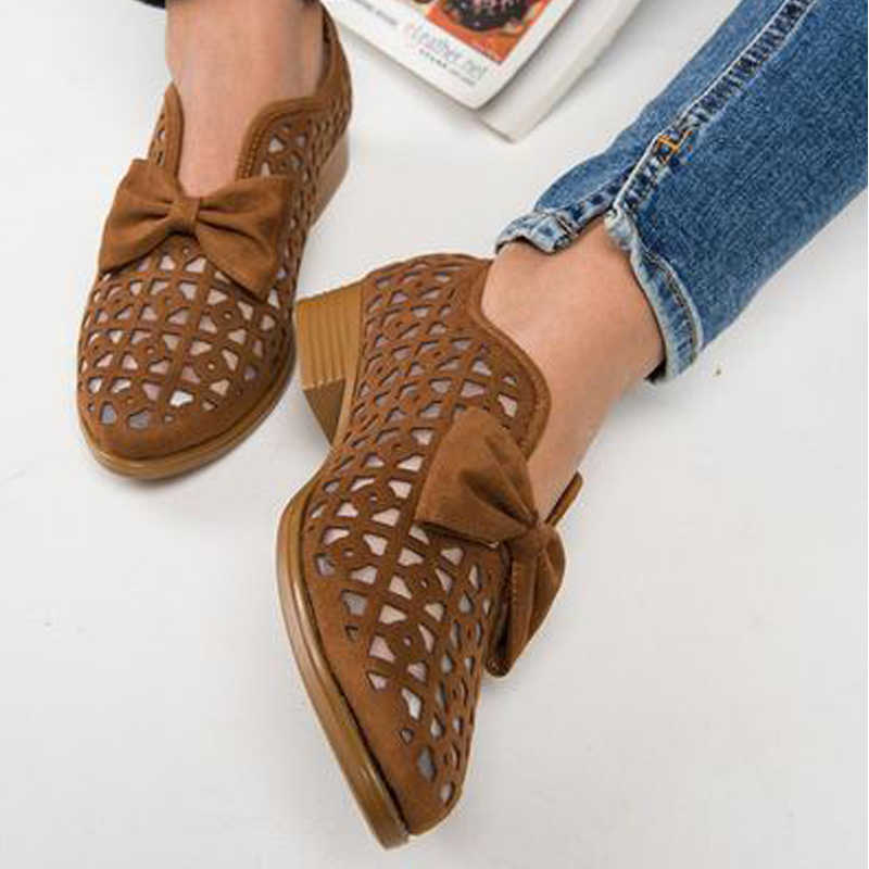 Puimentiua Drop Shipping Papyon Sivri Burun Kadın Ayakkabı Kadın Platformu Loafer'lar Üzerinde Kayma Deri Feminino Zapatos De Mujer