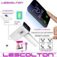 2019 Lescolton 4in1 icecool IPL эпилятор постоянное лазерная эпиляция ЖК дисплей depilador лазерный бикини триммер фотоэпиляторы