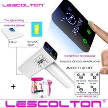 2020 Lescolton 4in1 IceCool เครื่องกำจัดขน IPL เลเซอร์กำจัดขนถาวรจอแสดงผล LCD depilador เลเซอร์บิกินี่ Trimmer Photoepilator