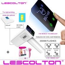 2020 Lescolton 4w1 icecool IPL depilator trwałe laserowe usuwanie włosów wyświetlacz LCD depilador laserowy depilator do okolic Bikini Photoepilator