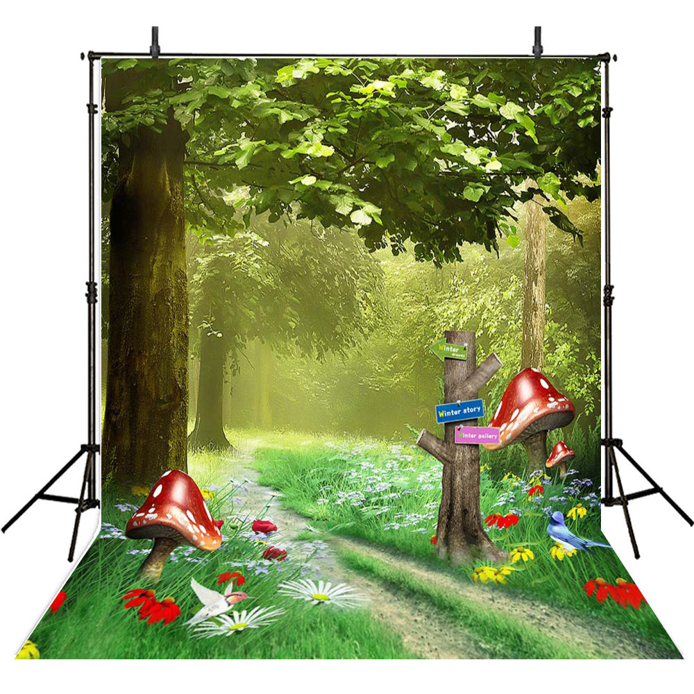 Cartoon Scenic Photography Backdrops Cloth Vinyl Backdrop For Photography Forest Background For Photo Studio Foto Achtergrond vinyl floral flower newborn backdrops cartoon unicorn photography background studio photo props 5x3ft