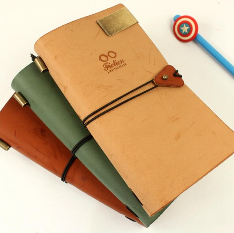2016 Vintage Leather Notebook Letter Clip Filler Paper
