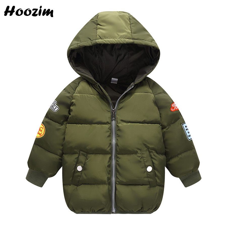 Winter Long Jacket For Boy 2 3 4 5 6 7 Years Green Cotton Parka Children Thick Warm Hooded Jacket For Girls Autumn Red Kids Coat olekid 2017 new cartoon rabbit winter girls parka thick warm hooded children outerwear 5 14 years teenage girls sweater coat