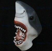 2013 Hot bán Full đầu Awesome Shark Mask Impressive đạo cụ trang phục Realisic Halloween đạo c