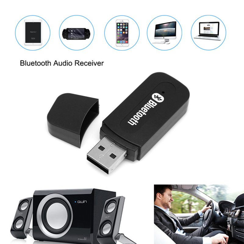 цена на ENKLOV USB Bluetooth Car Aux Wireless Portable Car Bluetooth Music Audio Receiver Adapter 3.5mm Stereo Audio for Automotive AUX