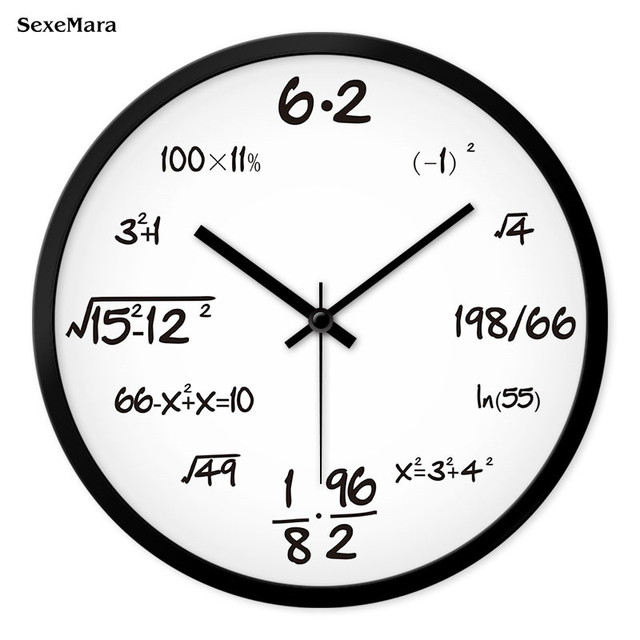 Mathematische Formel Wanduhr Moderne Quarzuhr Wohnzimmer Uhr