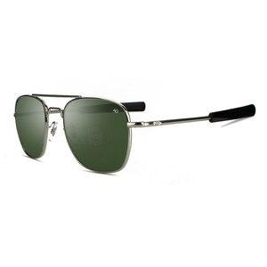 Классические солнцезащитные очки для мужчин, фирменный дизайн, мужские солнцезащитные очки, американские армейские военные оптические сте...