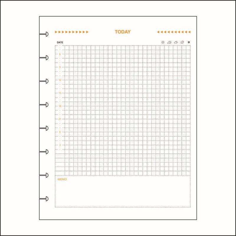 Fromthenon Disc Binding Notebook Refill Binder Planner