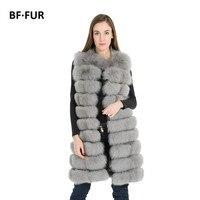 BFFUR 사용자 정의 여성의 진짜 여우 모피 조끼 두꺼운 따뜻한 코트 겨울 착실히 보내다 파카 여성의 진짜 모피 코트 여성 BF-V0040