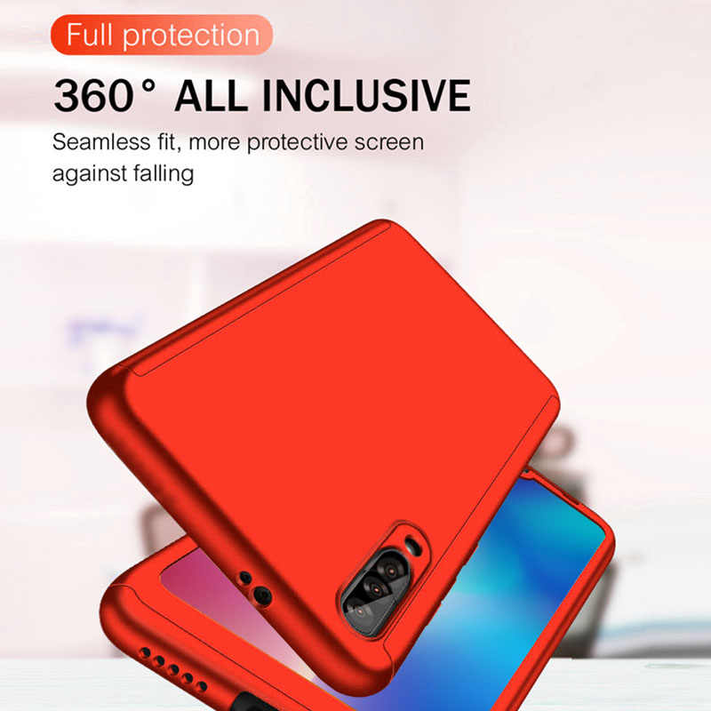Funda de teléfono de lujo 360 cubierta completa para Red mi Note 7 6 Pro 5 funda a prueba de golpes para Xiaomi mi A2 vidrio de regalo de protección 8 lite se 9
