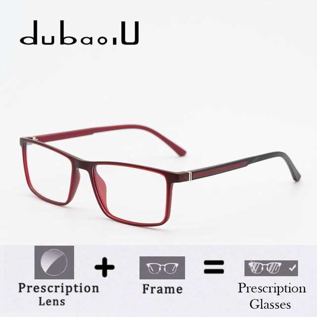 33cb93b948ef TR90 Men Prescription Glasses With Diopter Blue Light For Sight Hyperopic  Aspherical Fashion Spectacle Frame
