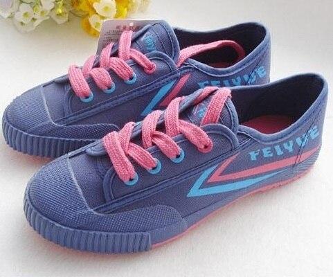 Chinese Feiyue Navy Blue Canvas Running Kung Fu Wushu TaiJi Shoes size 34-46