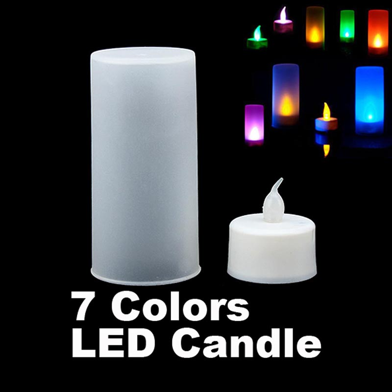 LED Electronic 7 Color Change Changing Floating Flicker Candle Flash Light Lamp font b toys b