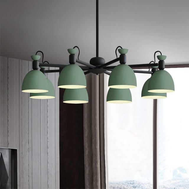 Macaron licht Vintage Landelijke stijl 8 heads hanglamp amerikaanse ijzer  led hanglamp cottage eetkamer woonkamer studeerkamer in Macaron licht ...