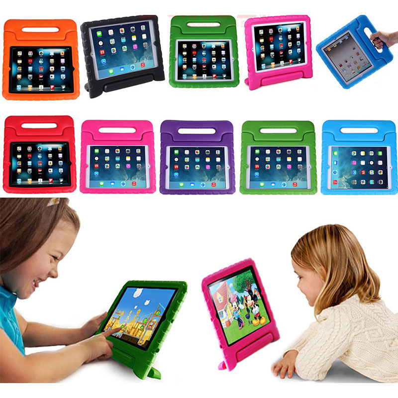 EVA Foam Non-toxic Cute Kids Handle Case for Apple iPad 2 3 4 Stand Table Cover Case for iPad Drop Resistance Protective Case