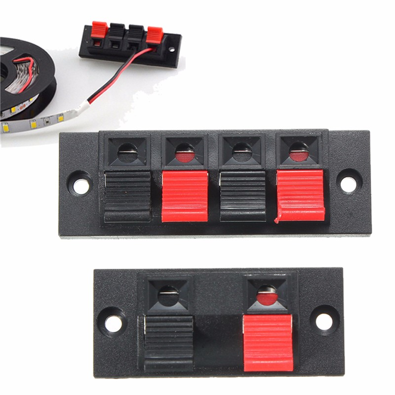 Hot Sale LED 3528 5050 5630 Strip 2pin 4pin Terminal Block Wire Cable Clip For RGB/Single Color Strip