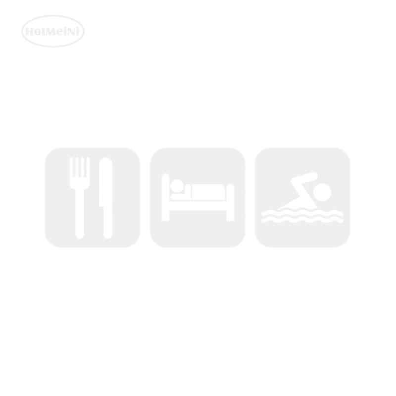 HotMeiNi للاهتمام أكل النوم السباحة ملصق حائط من الفينيل سيارة ملصقا أسود/الفضة خيال ديكور لنافذة الوفير محمول 17*6 سنتيمتر