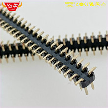 1.0mm PITCH 2X50P 100PIN MALE STRIP CONNECTOR SOCKET DOUBLE ROW VERTICAL SMT PIN HEADER WITHSTAND HIGH TEMPERATURES GOLD-PLATED