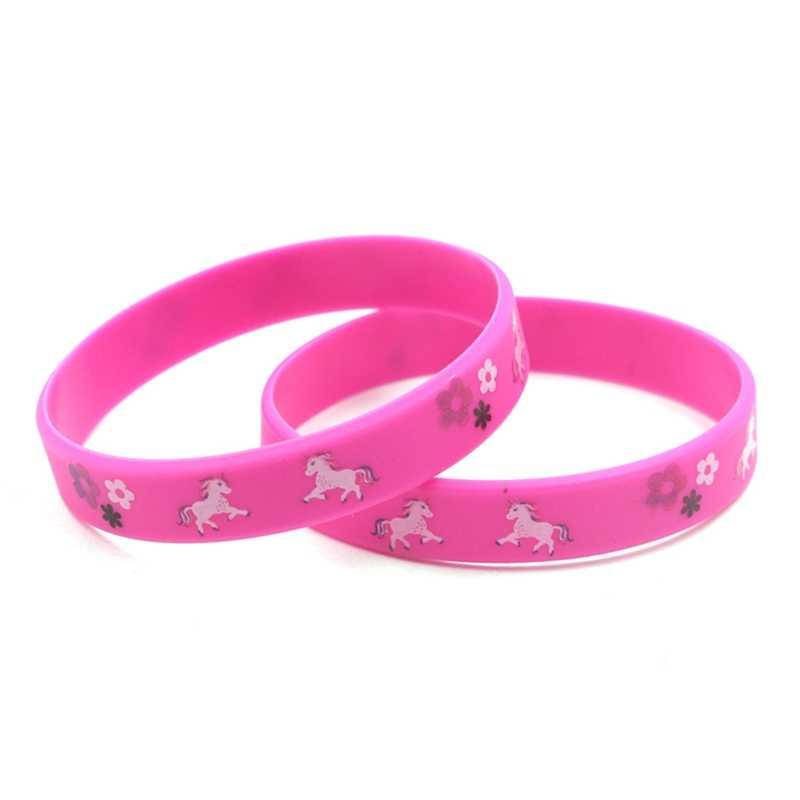 Модный Детский милый браслет с единорогом, браслет для детей, животное, амулет в виде единорога, подарок на день рождения, браслеты, цвет случайный