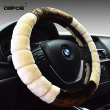 Autumn winter new style plush car steering wheel cover keep warm Environmental sport  Diameter38cm material freeshipping