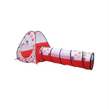 Livraison gratuite CE certification bébé playhouse jouet enfant Portable tente super grand dot maison de jeu tube du tunnel jouet