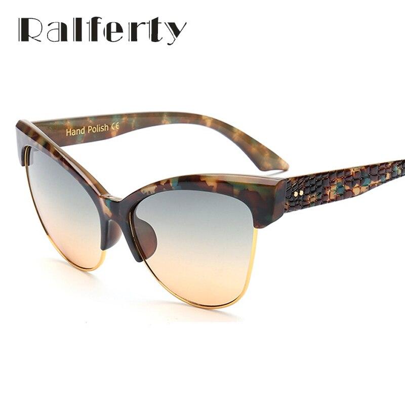 ralferty luxury cat eye sunglasses women vintage retro sunglass uv400 eyewear camouflage sun. Black Bedroom Furniture Sets. Home Design Ideas