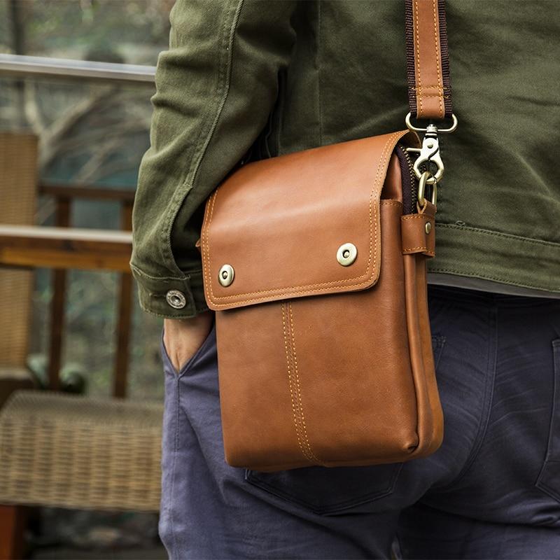 J.M.D New Arrivals High Quality Genuine Leather Brown Crossbody Bag Fashion Simple Design Zipper Top Closure Shoulder Bag 1006B cute colour block and magnetic closure design crossbody bag for women